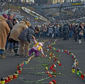 The_way_of_the_Euromaidan_Heavenly_Hundred._Institutska_st._Kiev._24.02.2014